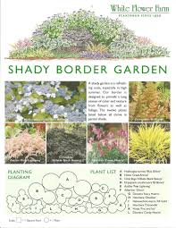 Small Picture Shady Border Garden Plan from White Flower Farm Border plan is