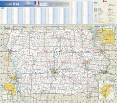 iowa state wall map by globe turner
