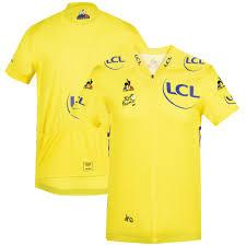 Le Tour de France 2021 Replica Team Trikot von Le Coq Sportif - Abfahrt -  Gelb