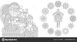 Kerstmis Nieuwjaar Kleurplaten Kleurboek Voor Volwassenen Santa