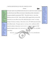 sample apa literature review by the online writing lab  2 varying definitions of online