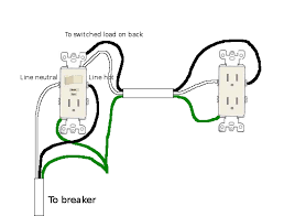 electrical outlet wiring in series all wiring diagrams garbage disposal gfci combination switch and outlet to fully wiring diagrams