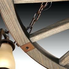 wagon wheel chandelier diy