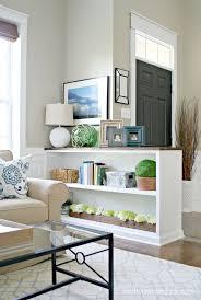 a diy half wall bookcase best decor ideas on kitchen eeedaebacae living room dining rooms