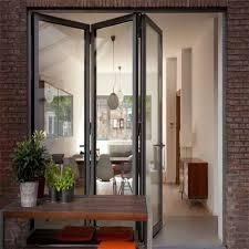 high quality well aluminium frameless glass folding door 副本