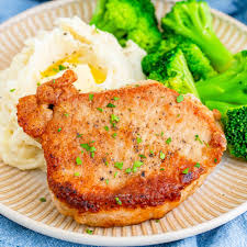 easy pan fried pork chops the country