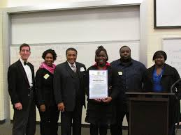 clayton county water authority acirc news releases acirc kendrick middle water resources engineer shayla nealy second from left and clayton county commission chairman eldrin bell third from left congratulate mykayah for
