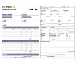 Electrical Invoice Template Free Hvac Invoice Forms Template Ideas Electrical Free Service Myenvoc 52