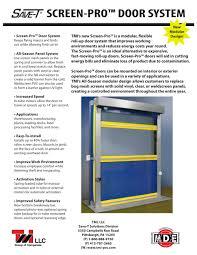Decorating overhead roll up door pictures : Screen-Pro Bug/Bird Screen All-Season Roll-Up Door - TMI, LLC ...