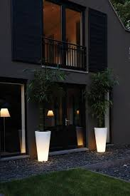 Outside Pot Lights Beautiful Lighting Outdoor With Pure Straight High Led Light
