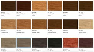 Sherwin Williams Stain Chart Sherwin Williams Wood Classics Interior Wood Stain Color