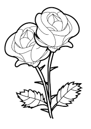 Small Picture Rose Coloring Page Rose Coloring Pages In Flowers Coloring Style