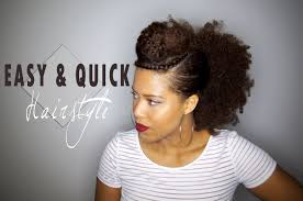 Easy Hairstyles On The Go Easy Quick Hairstyle For Your Old Wash And Go Natural Hair