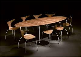 unique dining furniture. Contemporary Concept Of Unique Dining Tables In Oval Shape Design Furniture