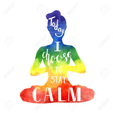 Today I Choose To Stay Calm. Vector Yoga Illustration With Hand.. Royalty  Free Cliparts, Vectors, And Stock Illustration. Image 86387412.