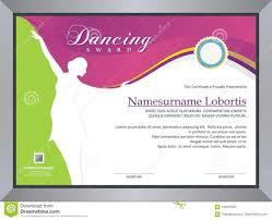 Dance Award Certificate Dance Certificate Template Professional Template