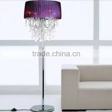 modern contemporary crystal chandelier floor lamps led standing floor light for home hotel decor fl025