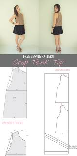 Crop Top Pattern Adorable Free Crop Tank Top Sewing Pattern And Tutorial Sew In Love