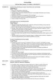 Facility Maintenance Manager Resume Samples Velvet Jobs
