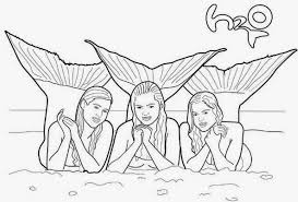 Small Picture coloring pages mermaids h2o printable mermaid coloring for kid