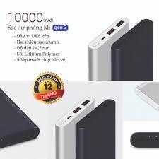 Chính Hãng] Pin Sạc dự phòng Xiaomi Gen 2 10000 mAh 2 cổng sạc (BẢO HÀNH 1  NĂM) - Pin sạc dự phòng di động