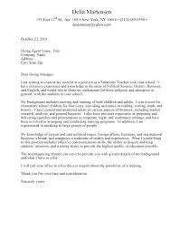 Cover Letter For Teacher Post Keralapscgov