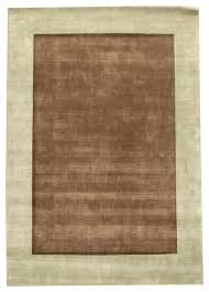 border bd plain brown and light blue rug rectangle 8 6 x11 6 area rugs by rug and home