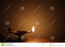 Oil Lamp Light Traditional Brass Oil Lamp Light Stock Photo Image Of