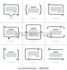 quote templates set vector quote templates speech bubble stock photo photo vector