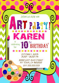art party invitations theruntime com art party invitations which can be used as extra appealing party invitation design ideas ihl18