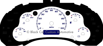 black cat custom automotive chevy s10 xtreme blazer gauge 98 05 s10 gauge face no tach