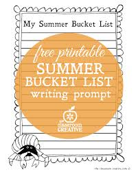 printable summer bucket list writing prompt