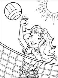 Small Picture Coloring Activity Pages Girl Playing Beach Volleyball Coloring Page