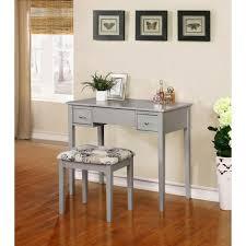 Bench vanity set with bench Linon Home Decor Black Bedroom