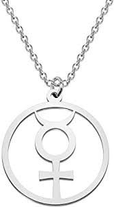 CENWA Mercury Pendant Alchemical Symbol ... - Amazon.com