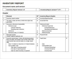 format of inventory sample inventory report 18 documents in pdf