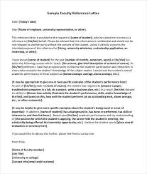 Simple Faculty Reference Letter Download