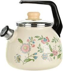 """<b>Чайник эмалированный</b> СтальЭмаль """"Луговые цветы"""", <b>со</b> ..."""
