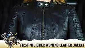 first mfg biker womens leather jacket deadbeatcustoms com