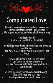 Complicated Love Quotes Magnificent Complicated Relationship Poems