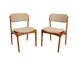 upholstered arm dining chair 6 teak dining chairs erik buck danish modern od mobler