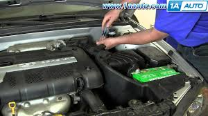 how to install replace mass air flow sensor 2001 06 hyundai 2007 Hyundai Tiburon Oil Temperature Sender Wiring Diagram how to install replace mass air flow sensor 2001 06 hyundai elantra 2 0l youtube