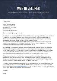 Web Design Sales Letter Sample Web Developer Cover Letter Sample Resume Genius