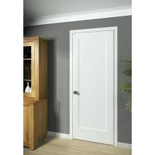 home interior doors panel 1 primed white solid core shaker mission style door in 4 missio