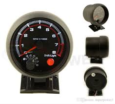 tachometer gauge with shift light. 2018 3.75\u0027\u0027 80mm 0~8000 tachometer gauge black rim face rpm meter with shift light auto from superpower1,