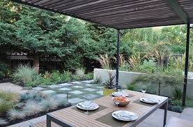 make geometric patterns with pavers and ground cover
