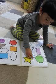 Freebies Colorful Shapes Matching File Folder Printable Game