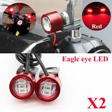 Motorcycle Strobe Lights Us 2 53 25 Off Miumiu 2pcs Dc 12v Motorcycle Rearview Mirror Eagle Eye 3 Led Flash Strobe Lights Drl Red New In Signal Lamp From Automobiles