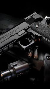 cool black gun wallpaper sc smartphone