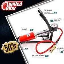 Bơm hơi đạp chân đa năng mini dùng cho xe máy xe đạp ô tô phao bóng 1  piston xi lanh, Giá tháng 11/2020
